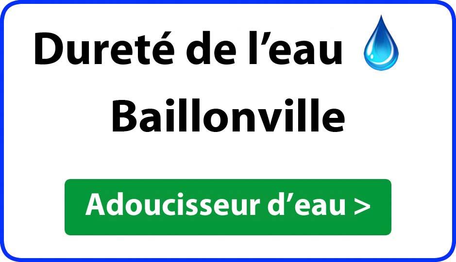 Dureté de l'eau Baillonville - adoucisseur d'eau