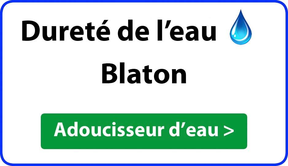 Dureté de l'eau Blaton - adoucisseur d'eau
