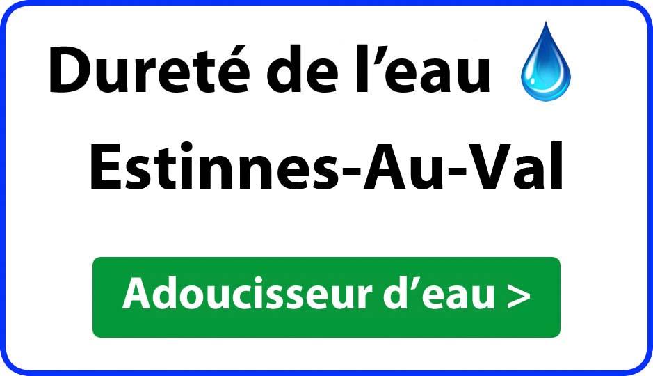 Dureté de l'eau Estinnes-Au-Val - adoucisseur d'eau
