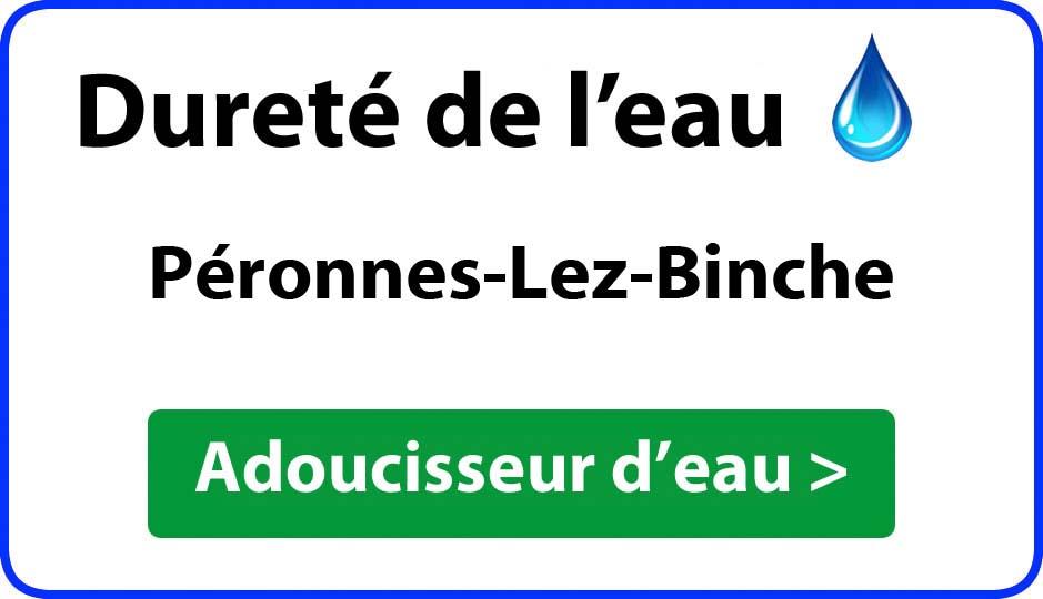 Dureté de l'eau Péronnes-Lez-Binche - adoucisseur d'eau