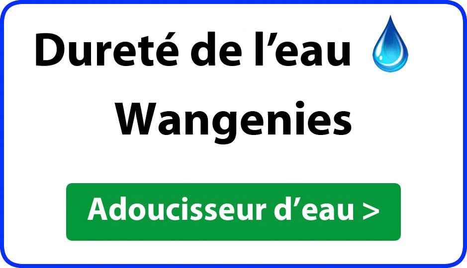 Dureté de l'eau Wangenies - adoucisseur d'eau